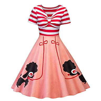 nboba in Stock Lovely Bow Cocktail Dresses Short Sleeve Elegant Dress Knee Length Fancy Formal Dresses Cheap Simple Gown at Amazon Womens Clothing store: