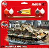 Airfix A55303 1:76 King Tiger Military Vehicle Gift Set