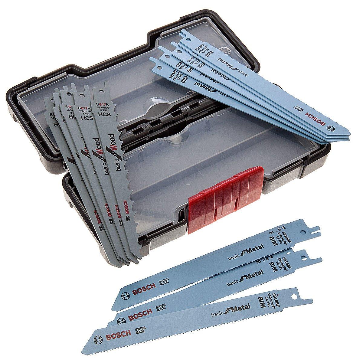 Bosch Professional 2607010901 Professional Sä belsä geblatt Set, 1 V, schwarz, 15 Stü ck