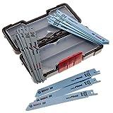Bosch 2607010901Säbelsägeblätter für Holz/Metall in Tough Box–Schwarz (15Stück)