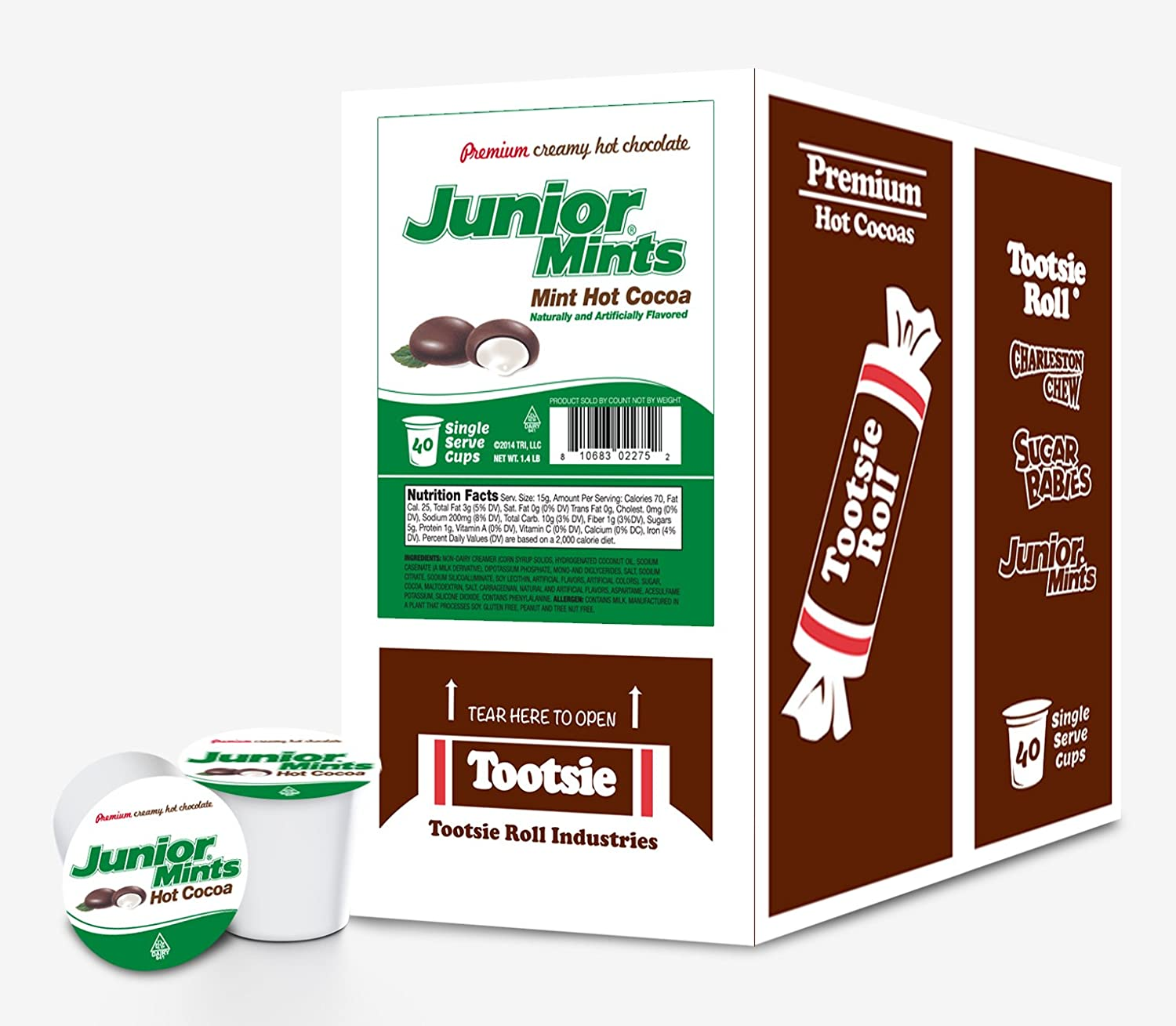 Junior Mint Hot Cocoa for Keurig K-Cup Brewers, 40 Count: Amazon ...