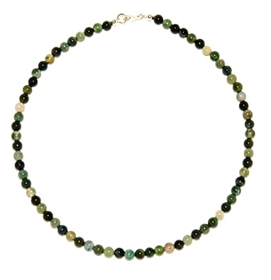 60bd5d6b996b Ágata joyería (collar) cadena musgo-Ágata bolas cierre 925er esterlina-plata  número de modelo 4451  schoener-mineralienschmuck   Edelsteinschmuck  ...