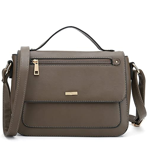 e7159ac66bf88f Women's Crossbody Purses Popular Cross Shoulder Bags Small Side Handbag  Designer (Coffee)