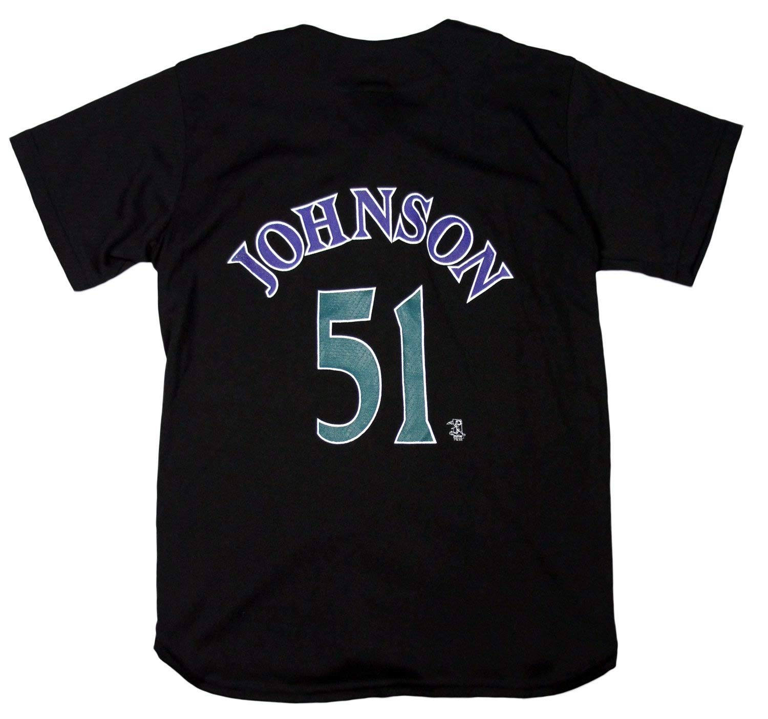 12869fc1 Amazon.com : Mighty Mac Arizona Diamondbacks Randy Johnson #51 MLB Big Boys  Vintage Replica Jersey, Black : Clothing