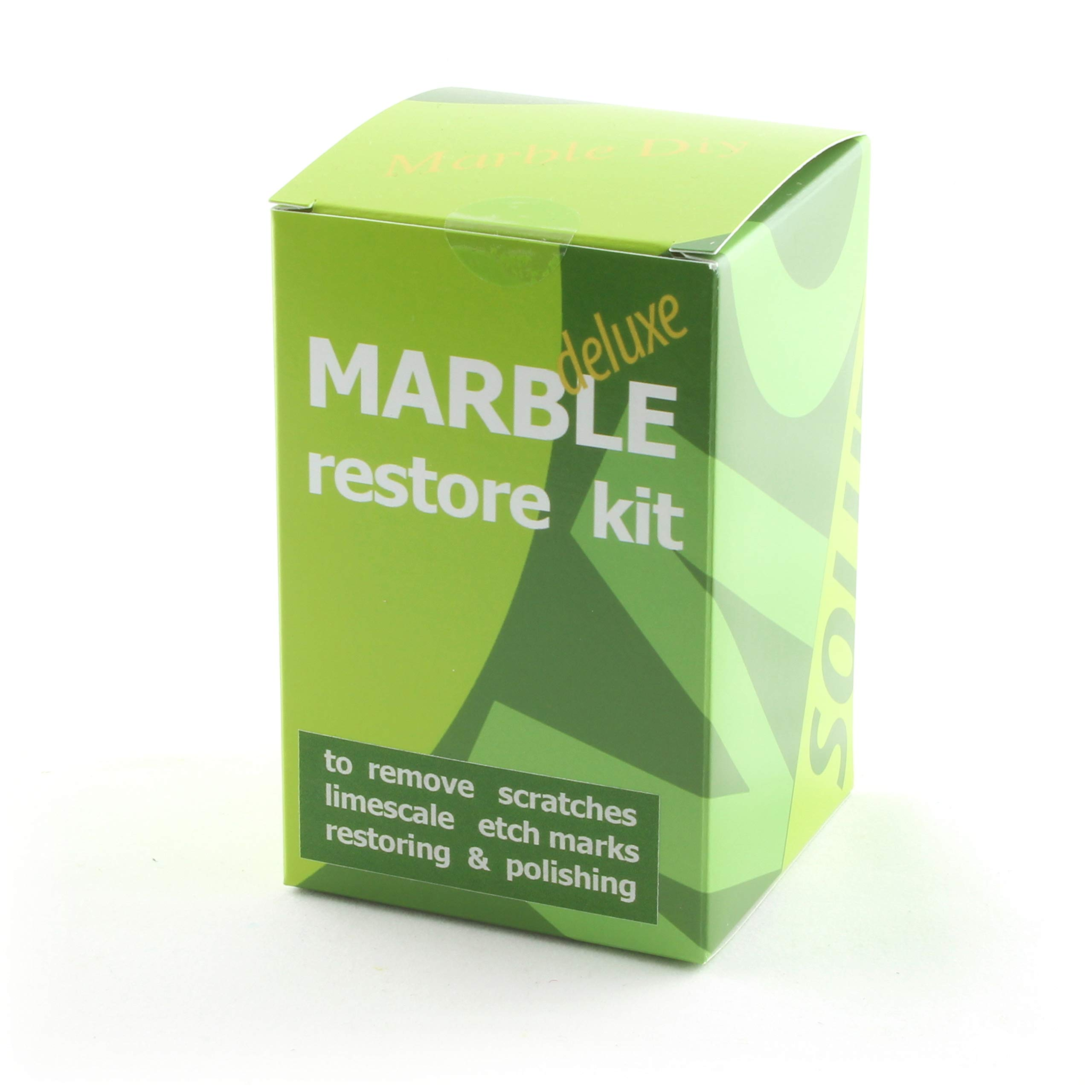 Marble Restore kit Deluxe to Renew The polishing of Natural Stone Ruined by Etch Marks, Scratches or limescale; Packaging 100 gr of Powder polishing