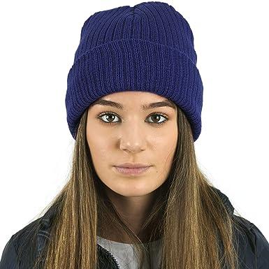 Ladies Thinsulate Rib Beanie Hat NAVY  Amazon.co.uk  Clothing 1827c3d5c49