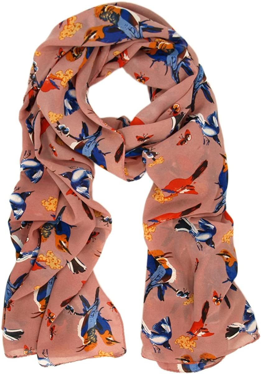 BUTTERFLY SCARF LADIES SCARF WITH VIBRANT COLOURED BUTTERFLIES SUPERB QUALITY