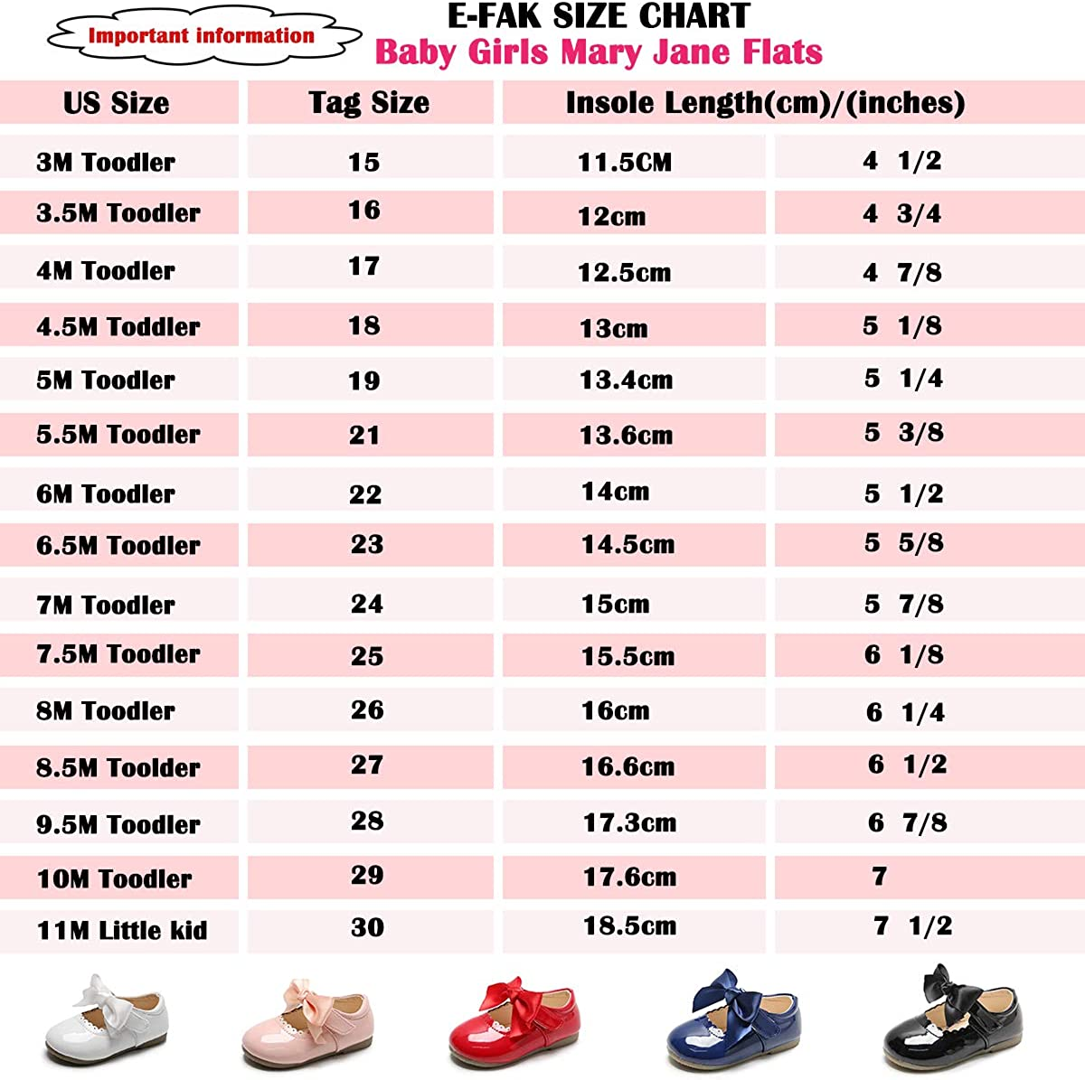 E-FAK Baby Girls Mary Jane Flats with Bowknot Non-Slip Toddler First Birthday Outfit Girl First Walkers Princess Wedding Dress Shoes