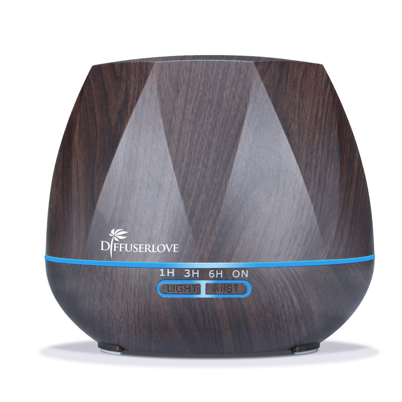 Diffuserlove Ultrasonic Cool Mist Essential Oil Diffuser 550ml Dark Wood Grain Aromatherapy Diffusers and Air Humidifiers Set Waterless Auto Shut-Off for Home Yoga Office Kitchen by Diffuserlove