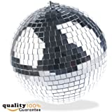 PMLAND Mirror Balls Disco DJ Dance Decorative Stage Lighting Home Party Business Window Display Decoration 12 Inch