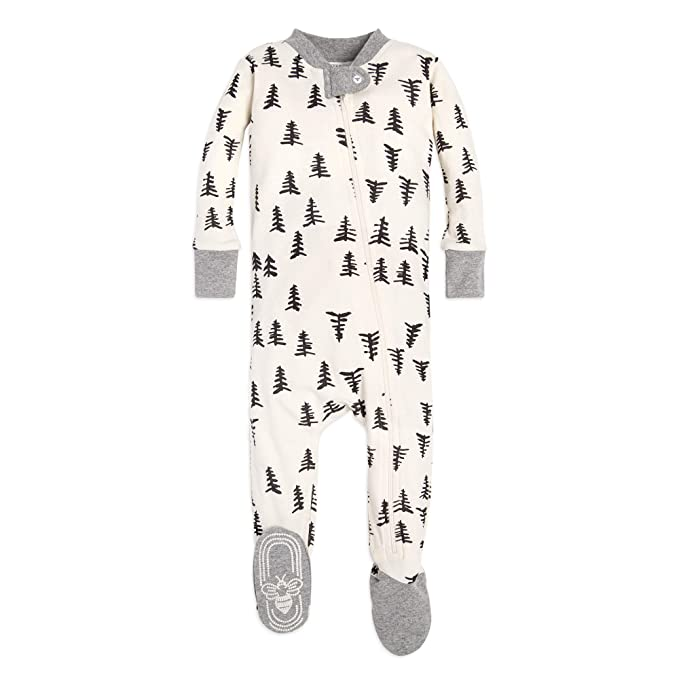 288b05a1e Burt's Bees Baby 1-Pack Pajamas, Zip Front Non-Slip Footed Sleeper PJs