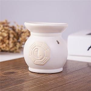 Feng Shui Zen Ceramic Essential Oil Burner Diffuser Tea Light Holder Great For Home Decoration & Aromatherapy OLBA100