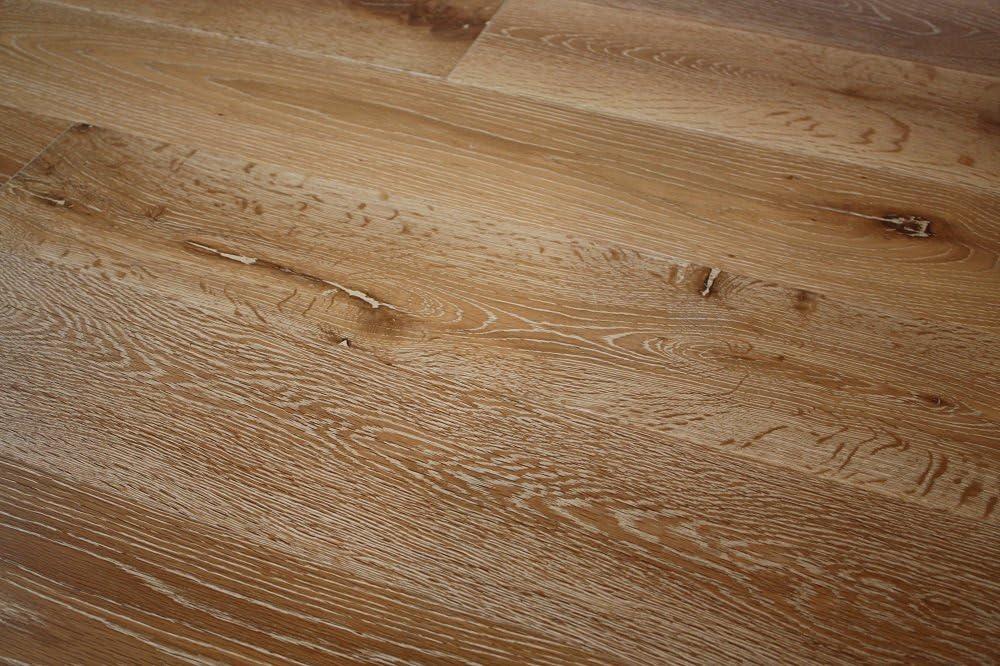 Elk Mountain Oak Brushed Alaska 3//4 x 5 Wire Brushed Solid Hardwood Flooring NH201 Sample
