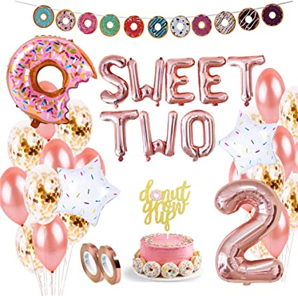 2 PERSONALISED Donut Doughnut 11th Birthday Banner Decorations Boys Girls Kids