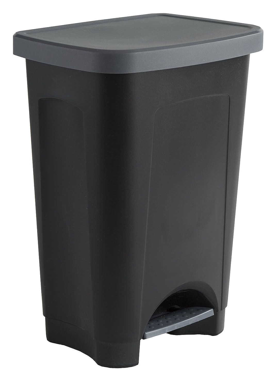 Sundis 450502 STEPBIN Poubelle à pédale Plastique Noir 41 x 33 x 58 cm