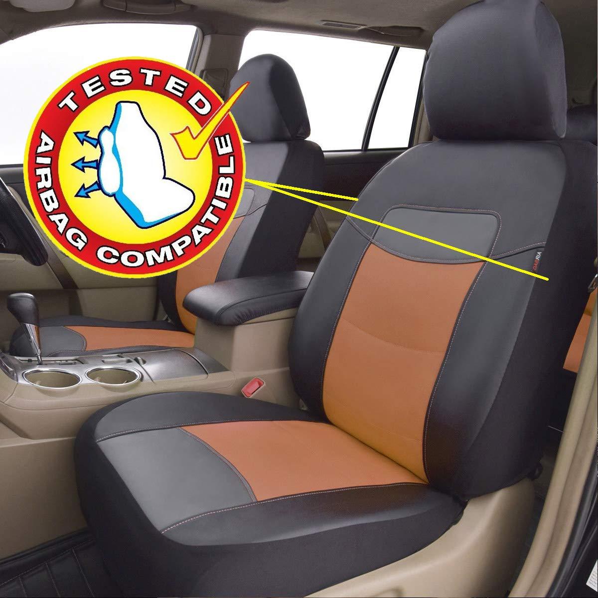 Flying Banner PU Cuir Housses de si/ège auto Design universel avec airbags lat/éraux