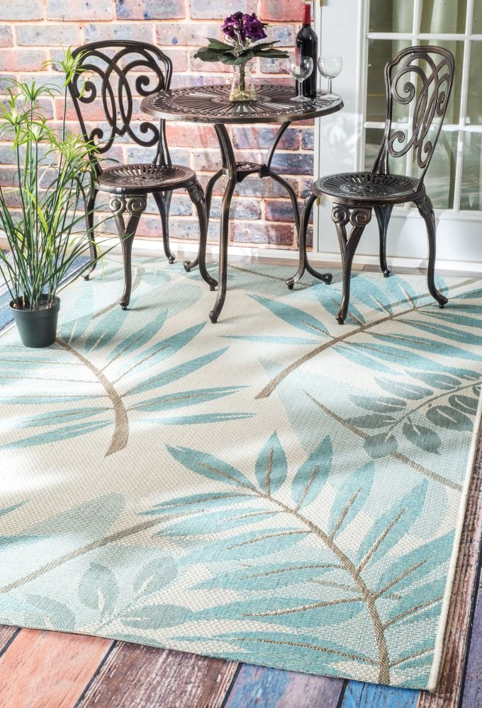 nuLOOM Indoor/Outdoor Trudy Rug, Turquoise, 5