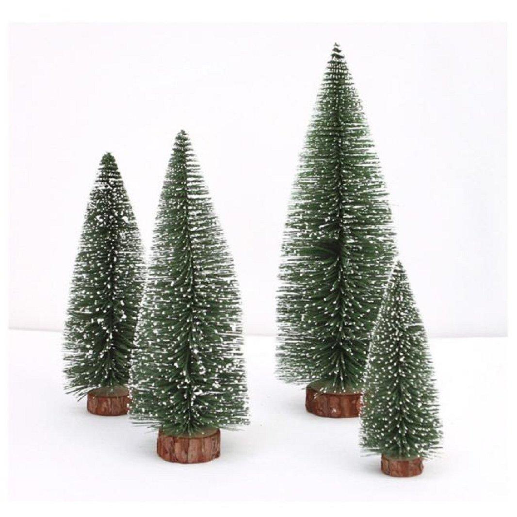 Iuhan Mini Christmas Tree Stick White Cedar Desktop Small Christmas Tree (Height: 10 cm)