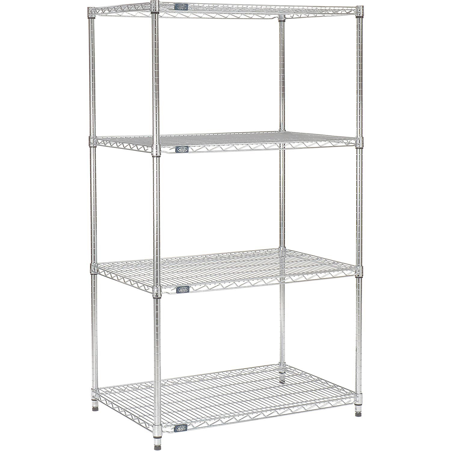 Chrome Wire Shelving, 60''W X 18''D x 74''H by Nexel