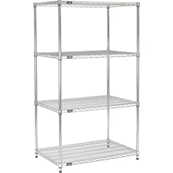 34H Chrome Finish Nexel Post for Wire Shelving