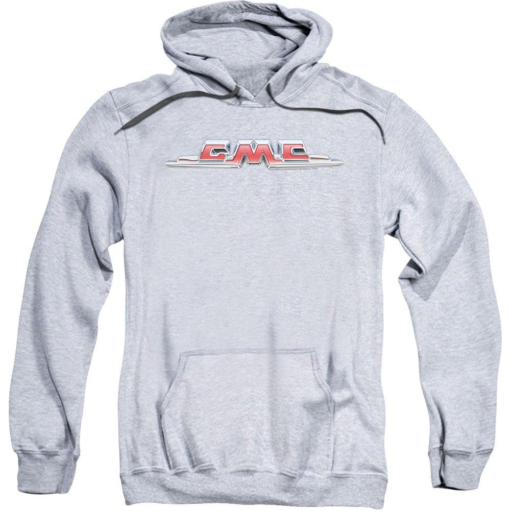 GMC Men's Chrome Logo Hooded Sweatshirt Athletic Heather TREVCO