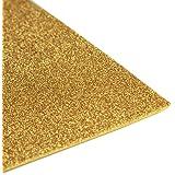 Glitter EVA Foam Sheet, 9-1/2-Inch x 12-Inch, 10-pack (Gold)