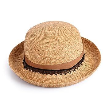yuan yuan Sombrero de señoras Sombreros de Playa de Primavera y Verano  Decorados Sombreros de Moda a59b5b9b619