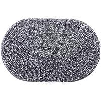 Tapete de Banheiro Victoria Oval Corttex Cinza II 60.00cmx40.00cm Tecido