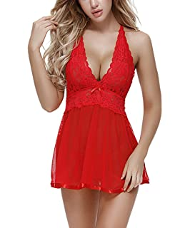 1980c2ca1b66b Hurrybuy Women s Santa Lingerie Red Christmas Babydoll Set Chemises ...