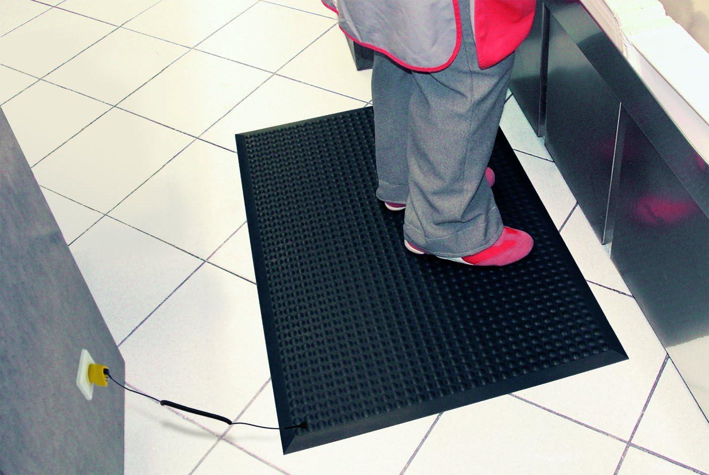 Black Miltex Floor 17073 Yoga ergonomics Anti-Static 95 x 125 CM ESD version includes Ableitkabel