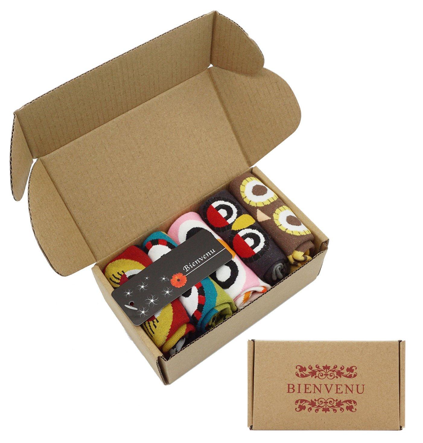 Women's Lady's Cute Owl Design Cotton Socks,5 Pairs Multi Color One Size by Bienvenu (Image #7)