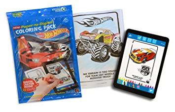 Pictures To Coloring Pages App : Amazon hot wheels coloring book pack paper to digital