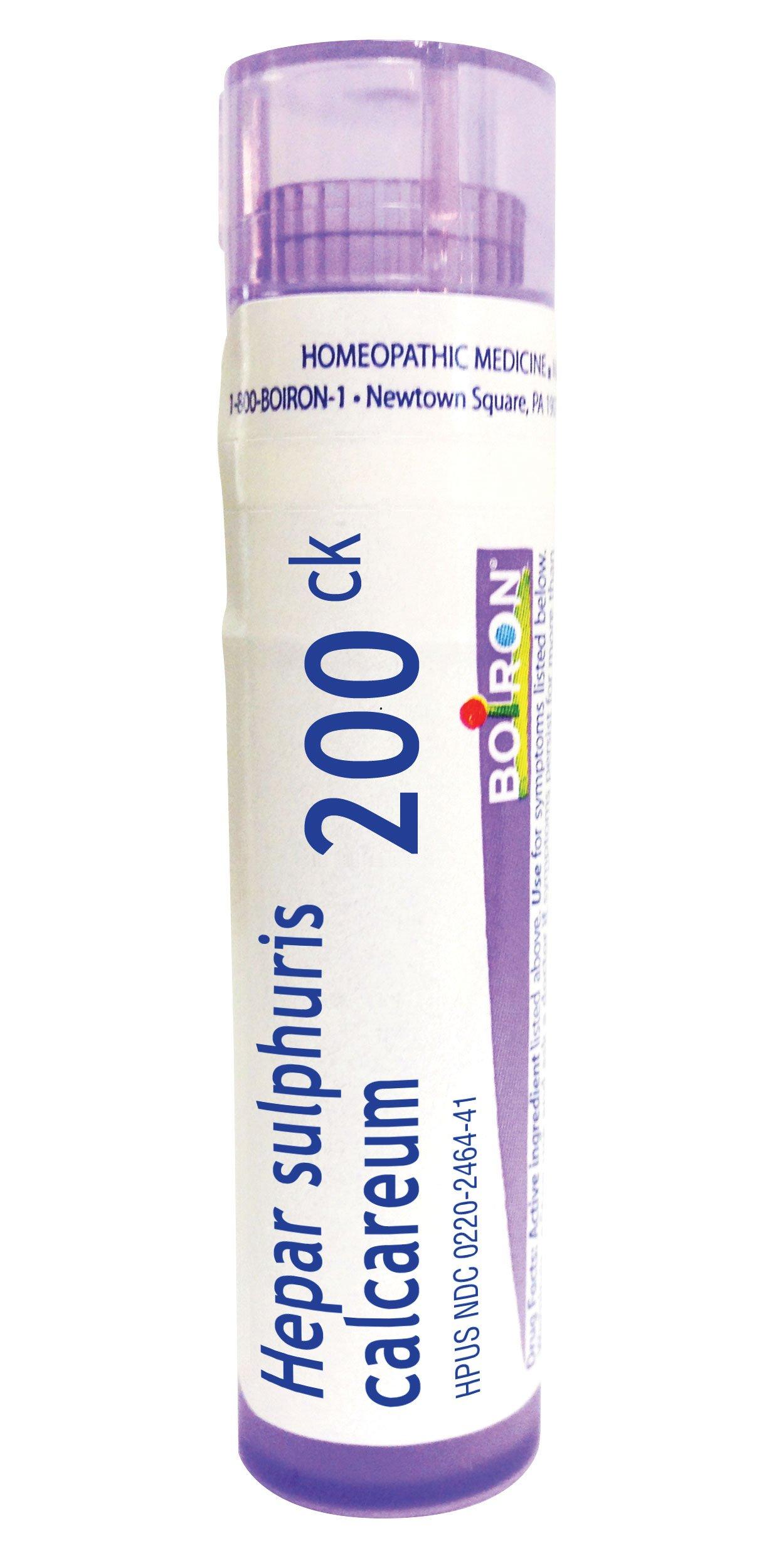 Boiron Hepar Sulphuris Calcareum 200C, 80 Pellets, Homeopathic Medicine for Cough