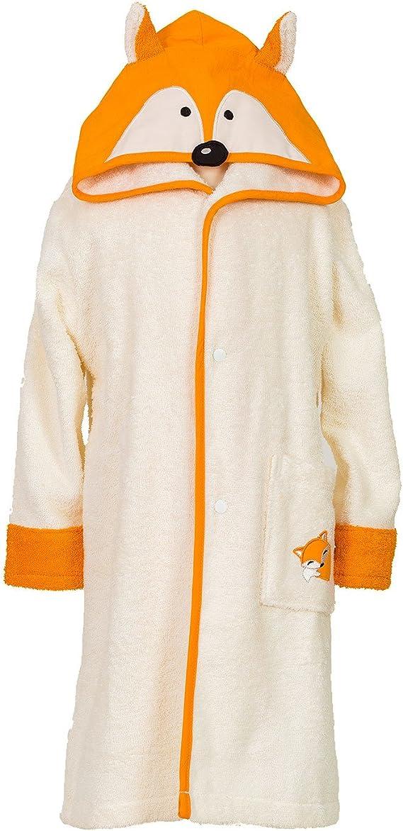 Smithy® – Albornoz infantil zorro para niñas y niños, 100% algodón ...