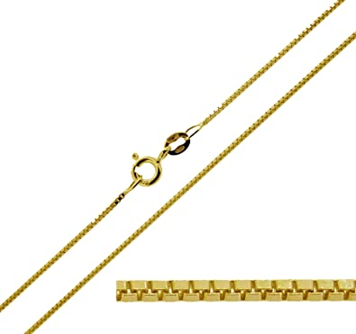 CJoL - Solid 9ct Yellow Gold 1mm Wide Curb Chain In Simple Gift Bag (available in 14