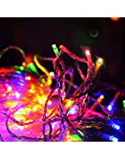 String Lights 100m 500LED Fairy LED Icicle Festoon Lights String Lights Christmas Wedding Decoration Outdoor Party Patio Jingle Jollys Warm Color