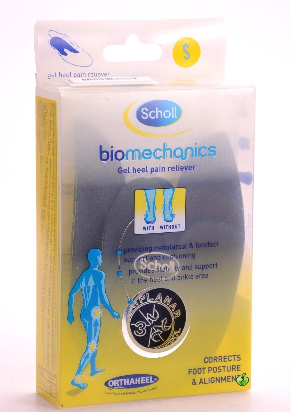 Scholl Orthaheel Biomechanics Gel Heel Pain Reliever Size - Small