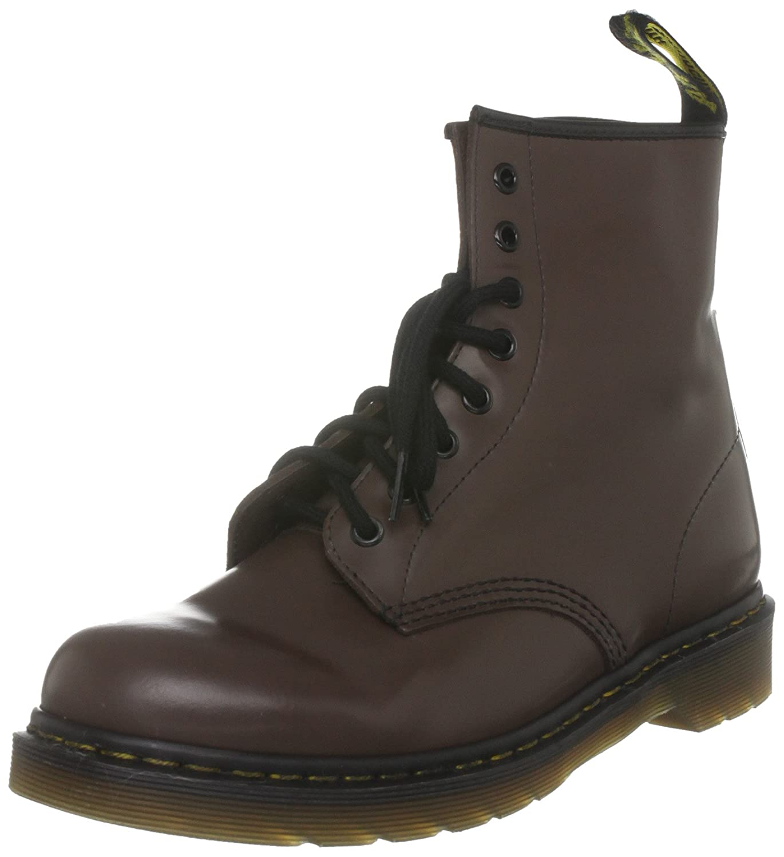 Brown Milled Smooth Dr. Martens Men's 1460 Combat Boot