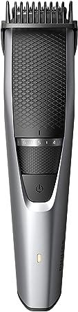 Philips BEARDTRIMMER Series 3000 Barbero BT3216/14 - Depiladoras para la barba (0,5 mm, 1 cm, 3,2 cm, 0,5 mm, Barba larga, Barba corta, Estilo barba de tres días, Gris, Metálico, Plata)