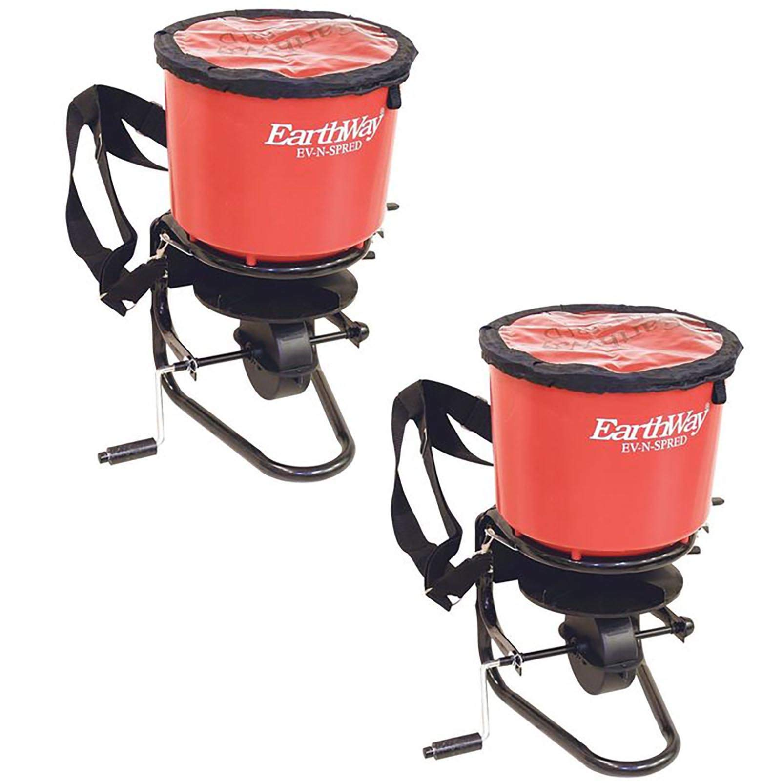Earthway 3100 Hand Crank Garden Seeder Adaptable Seed and Fertilizer Spreader (2 Pack)