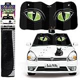 Green Cat Eyes Auto Windshield Sunshade