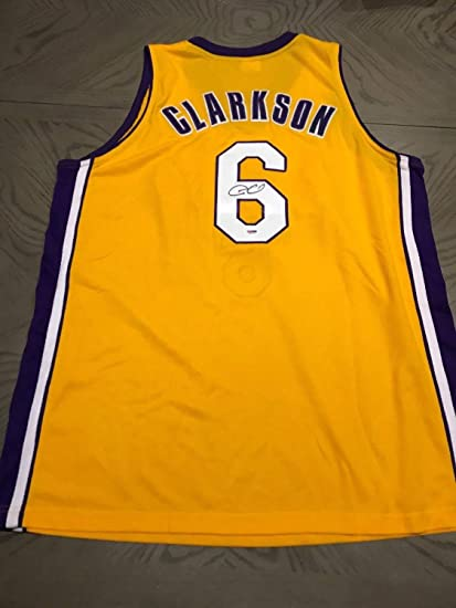 uk availability c6218 9bdc5 Jordan Clarkson Autographed Signed Memorabilia L.A Lakers ...