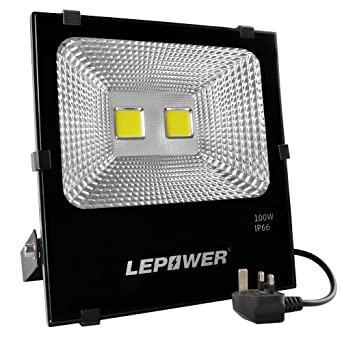 Lepower 100w led floodlight super bright outdoor work lights 500w lepower 100w led floodlight super bright outdoor work lights 500w halogen bulbs equivalent aloadofball Image collections