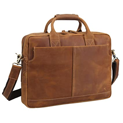 Image Unavailable. Image not available for. Color  Texbo Genuine Full Grain  Leather Men s 16 Inch Laptop Briefcase Messenger Bag Tote a7432f5afde9b