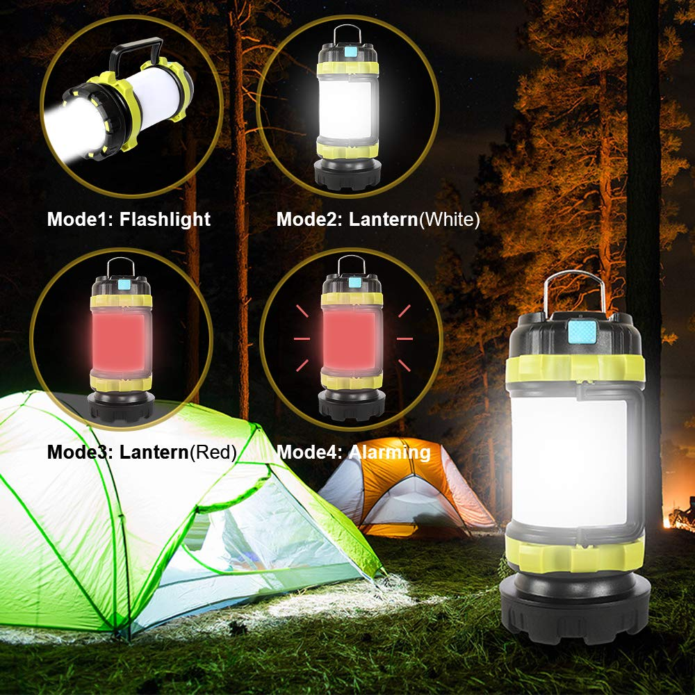 800 Lumens Portable for Emergency Latest COB Technology LED Camping Flashlight Lantern with rRechargeable Camping and Other Evening Activities Waterproof