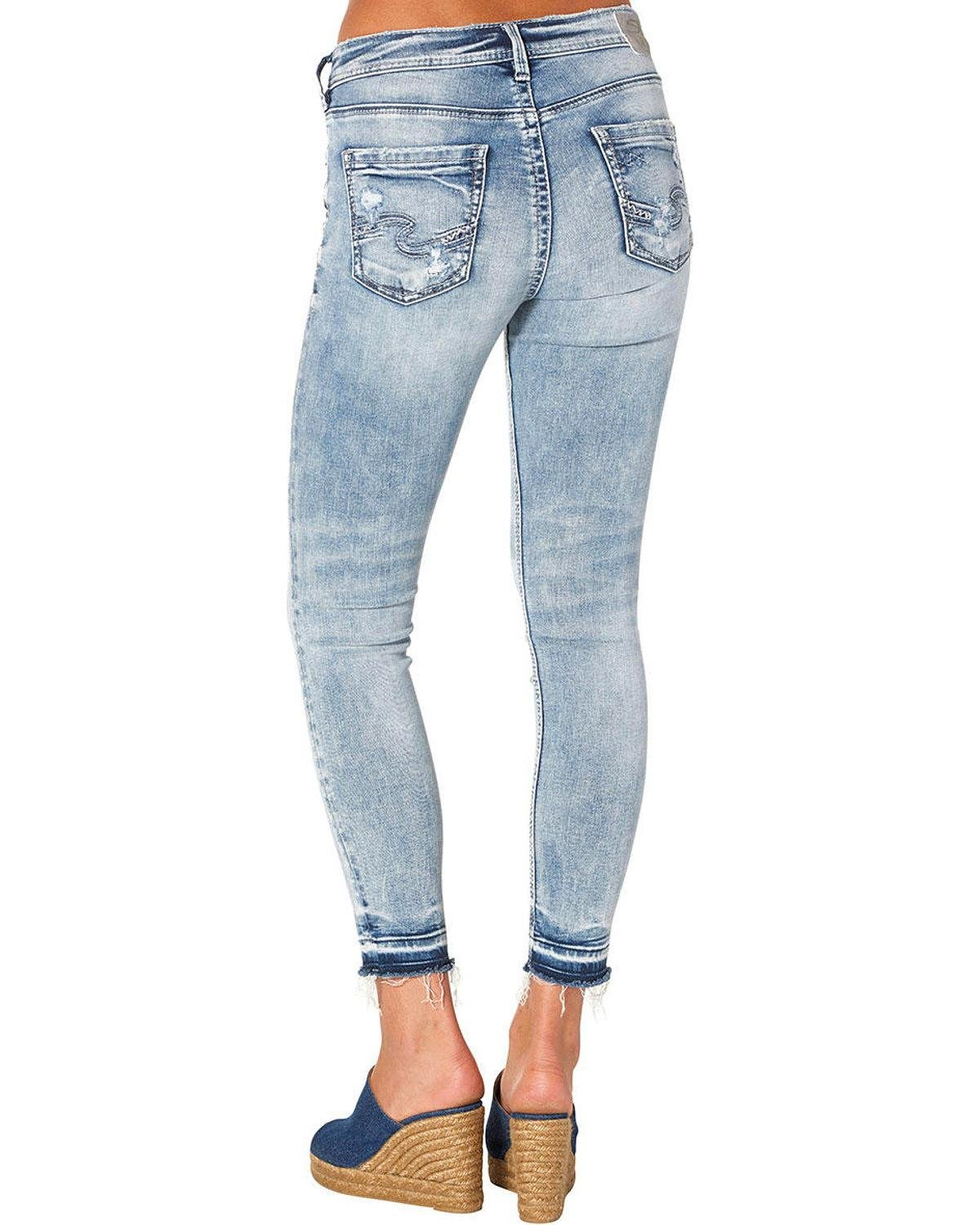 Silver Jeans Co Women S Avery Curvy Fit High Rise Ankle