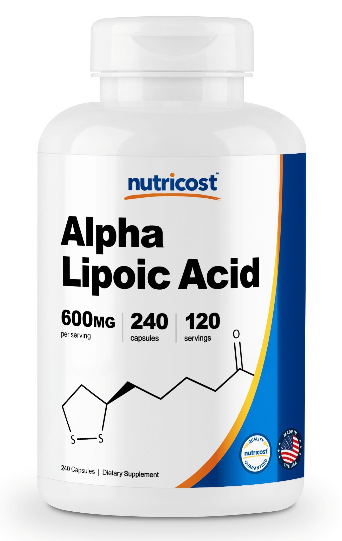 Nutricost Alpha Lipoic Acid - 600mg Per Serving - 240 Capsules