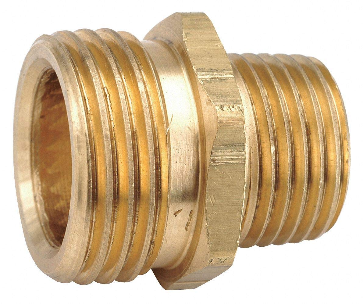 Low Lead Brass Male Adapter, 3/4'' MGH x 1/2-14 MNPT Connection - pack of 5