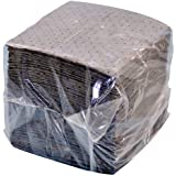 "NPS SFG-70 Spilfyter Universal Sorbent Streetfyter Single Weight Dimpled Pad, 18"" Length x 16"" Width, Gray (Bag of 200)"
