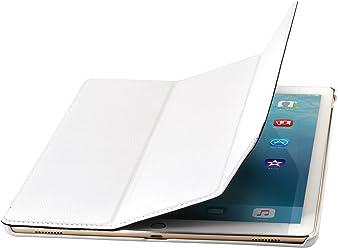 "StilGut Couverture Case, Custodia in Pelle Pregiata per Apple iPad PRO 12.9"" (2015), Bianco"